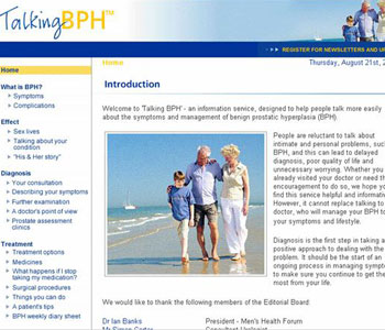 Talking BPH Website Image
