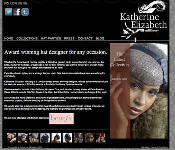 Katherine Elizabeth Hats website iamge