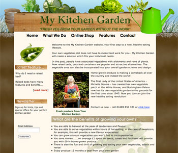 My Kitchen Garden Website Image